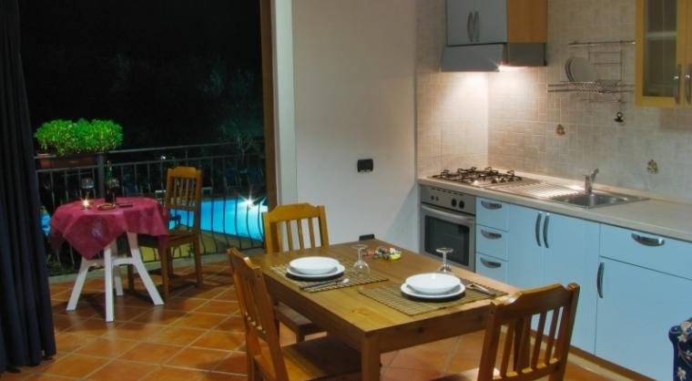TurismoInCilento.it - B&B,Casevacanze,Hotel - Residence Villa Andrea - Marina di Camerota - Soggiorno Cucina Bilocale